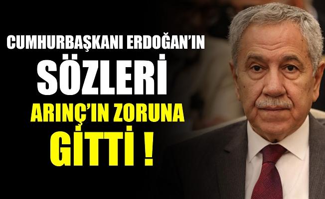 Cumhurbaşkanı Erdoğan'ın sözleri Arınç'ın zoruna gitti