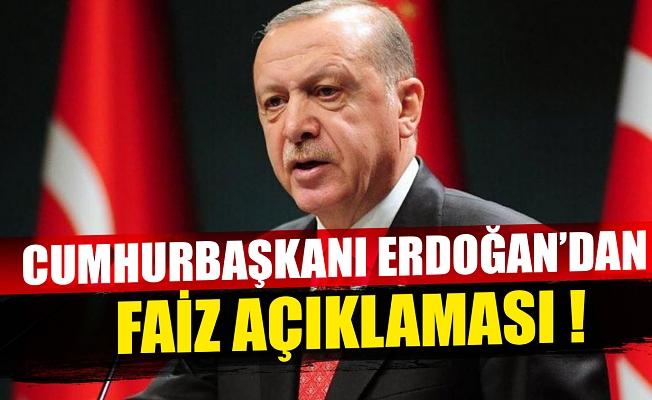 Cumhurbaşkanı Erdoğan: Yüksek faize yatırımcımızı ezdirmememiz gerekiyor
