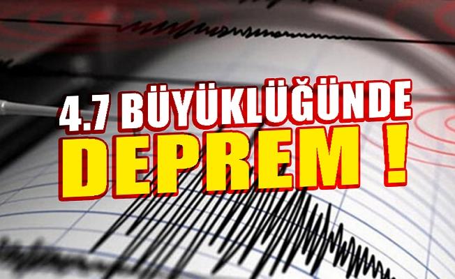 Malatya'da 4.7 büyüklüğünde deprem!