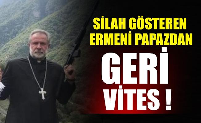 Silah gösteren Ermeni papazdan geri vites !