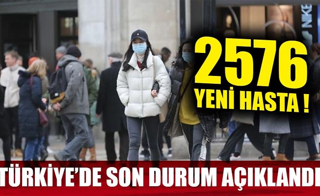 Türkiye'de son 24 saatte 2576 yeni hasta!