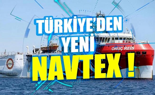 Türkiye'den yeni NAVTEX ilanı: Oruç Reis 23 Kasım'a kadar sismik araştırma yapacak.