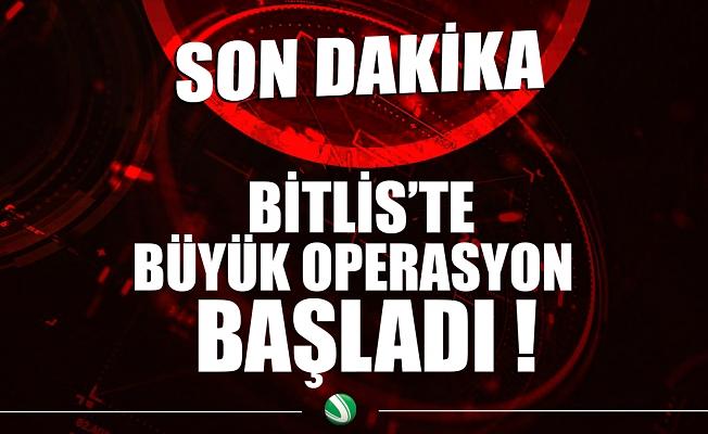 """""""Yıldırım-15 Mutki-Sarpkaya"""" operasyonu başladı"""