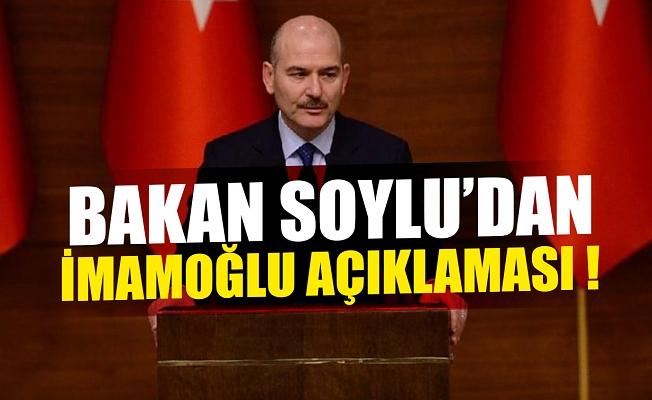 Bakan Soylu'dan, İmamoğlu'na suikast iddialarına cevap