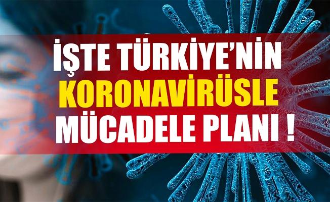 Türkiye'nin koronavirüs planı belli oldu