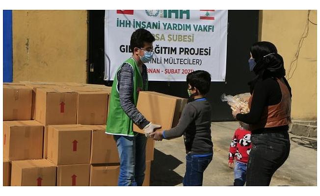 Bursa'dan Lübnan'daki Filistinlilere kumanya yardımı