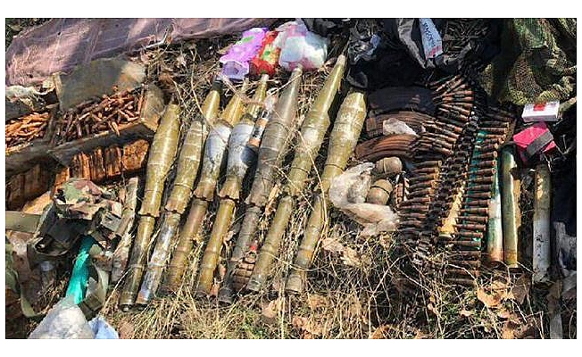 Irak kuzeyinde PKK'ya ait çok sayıda mühimmat ele geçirildi
