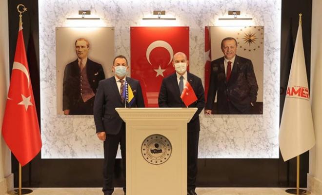İçişleri Bakanı Soylu ile Bosna-Hersek Güvenlik Bakanı Cikotic bir araya geldi