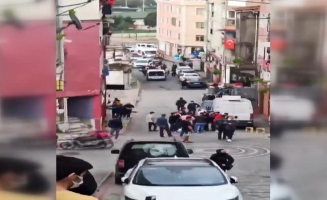 İki grup çatıştı, mahallede korku dolu anlar yaşandı