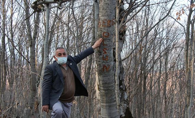 Köyün su borusunu kırıp, ağaca 'Ders olsun' yazmışlar