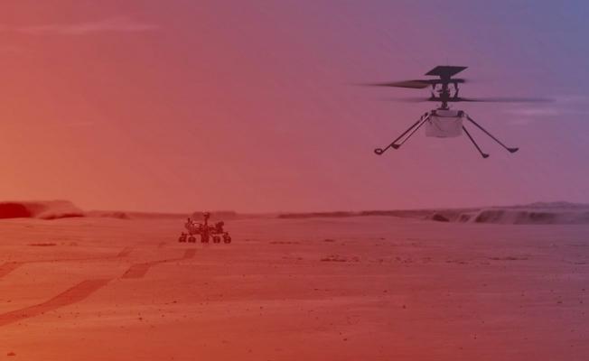 NASA'dan tarihi adım: Mars'ta ilk helikopter uçuşu gerçekleşti