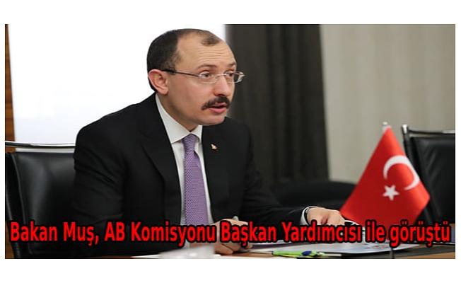 Bakan Muş, AB Komisyonu Başkan Yardımcısı ile görüştü