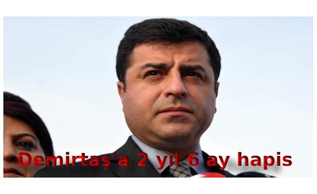 Demirtaş'a 2 yıl 6 ay hapis