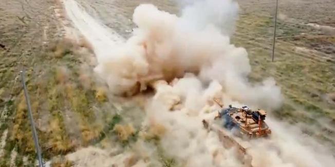 Hareketli tank atış eğitimleri başarıyla gerçekleşti