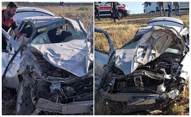 Otomobil şarampole devrildi; 8 aylık bebek öldü, 5 kişi yaralandı