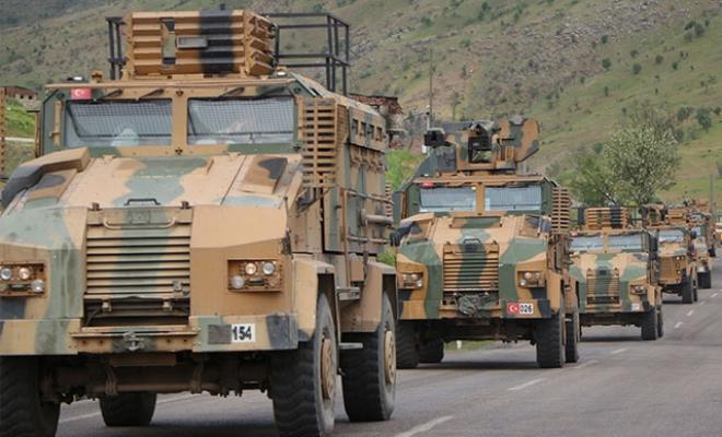 Sınıra özel birlikler sevk edildi; terör hedefleri yerle bir ediliyor