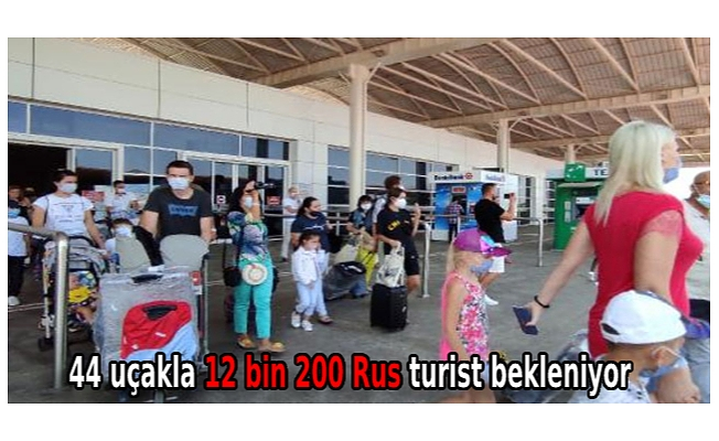 44 uçakla 12 bin 200 Rus turist bekleniyor