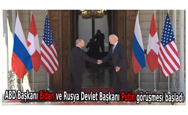 ABD Başkanı Biden ve Rusya Devlet Başkanı Putin görüşmesi başladı