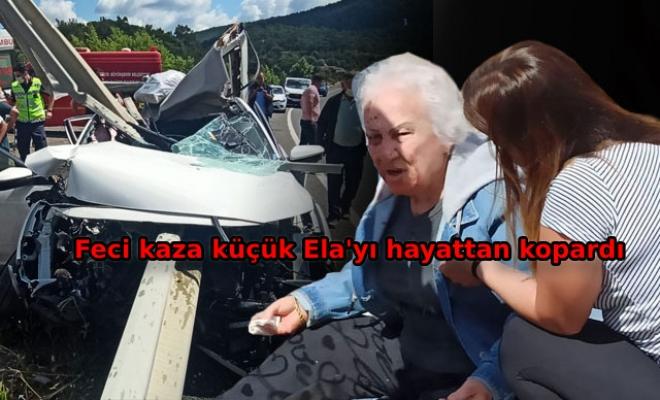 Bariyer otomobile saplandı; Ela öldü, dedesi, babaannesi ve 1 komşu yaralı