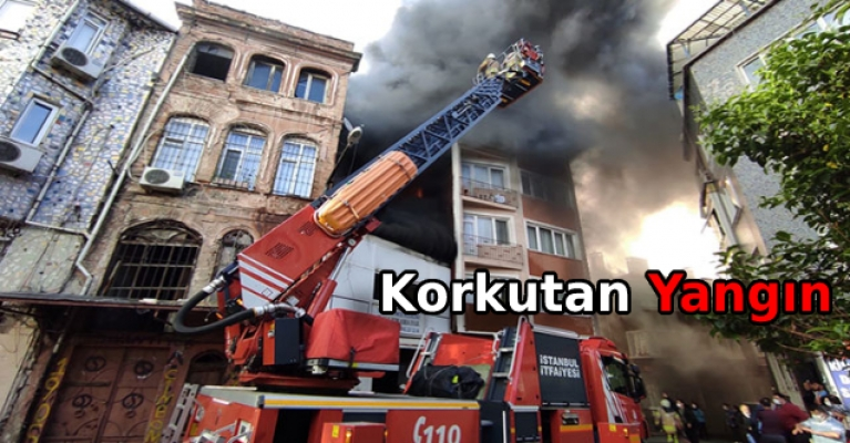 Halı yıkama fabrikasında çıkan yangın 5 katlı binaya sıçradı
