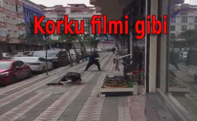 Kargalar vatandaşa saldırdı