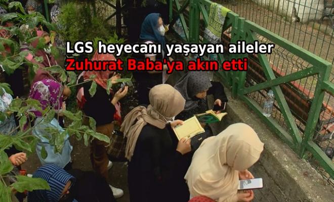 LGS öncesi öğrenciler ve aileleri Zuhuratbaba Türbesi'ne akın etti