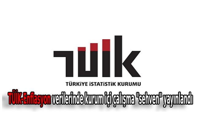 """TÜİK-Enflasyon verilerinde kurum içi çalışma """"sehven"""" yayınlandı"""