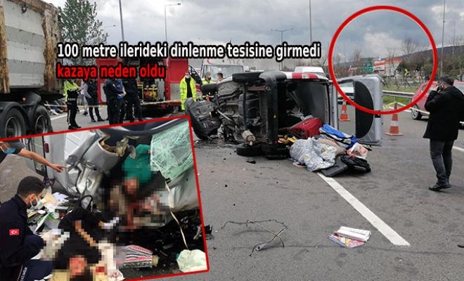 Tuvaletini yapmak için duran kamyon şoförü kazaya neden oldu: 1 ölü, 2 yaralı