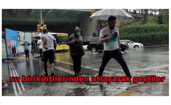 Yağmur hayatı olumsuz etkiledi