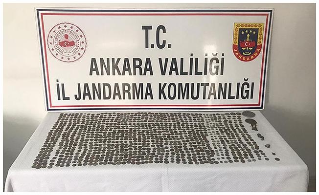 Ankara'da jandarmadan tarihi eser operasyonu