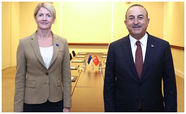 Bakan Çavuşoğlu, Estonya Dışişleri Bakanı Liimets ile görüştü