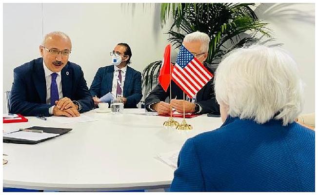 Bakan Elvan, ABD'li mevkidaşı Yellen ile görüştü