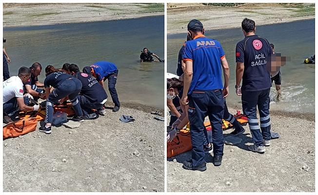 Baraj gölüne düşen Bilal ile kurtarmak için suya giren babası boğuldu