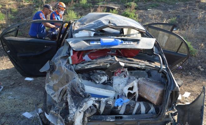 Bayram tatiline giderken kaza yaptılar: 4 yaralı
