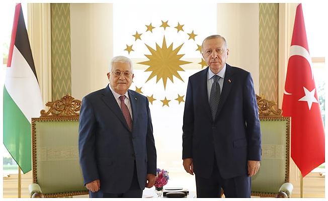 Cumhurbaşkanı Erdoğan Mahmud Abbas'ı kabul etti