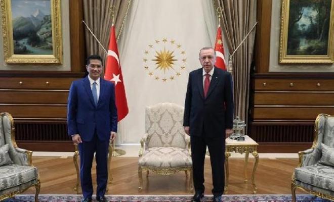 Cumhurbaşkanı Erdoğan, Malezyalı bakanı kabul etti