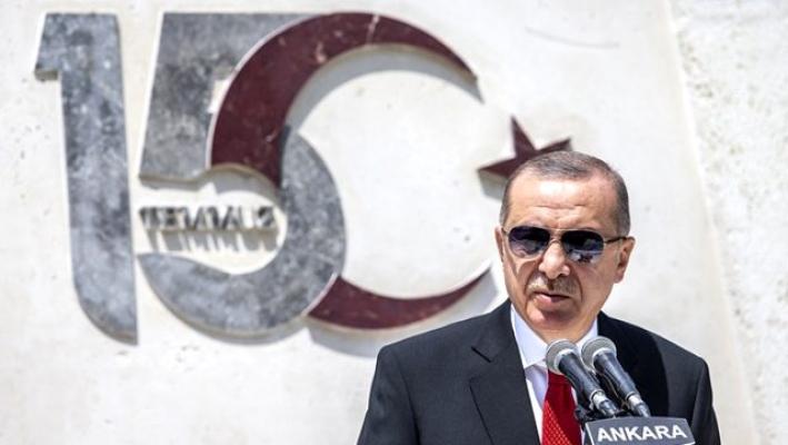 Cumhurbaşkanı Erdoğan TBMM şehitler anıtında konuşuyor
