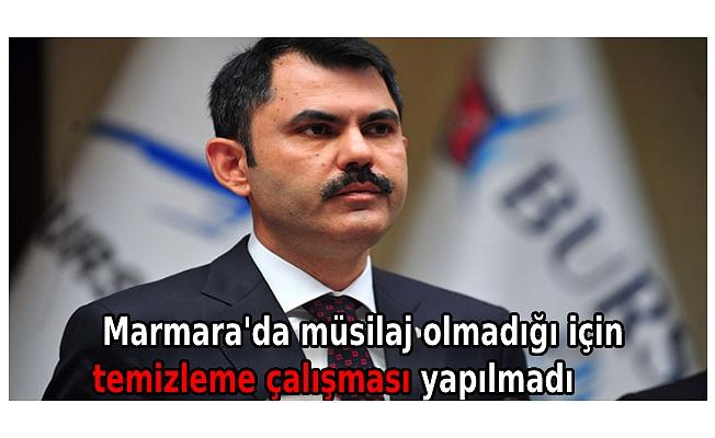 Marmara'da müsilaj olmadığı için temizleme çalışması yapılmadı