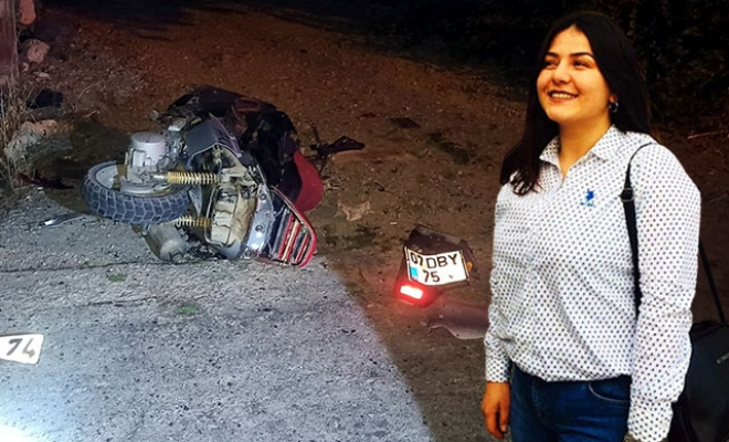 Otomobille çarpışan motosikletin sürücüsü tek yumurta ikizi Sema öldü