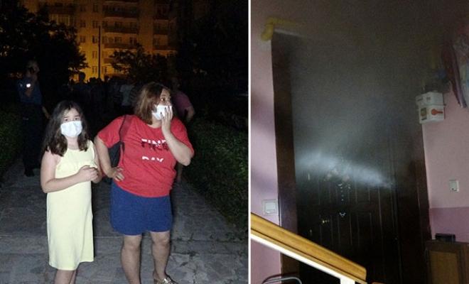 Sahibinin tatile gittiği evde yangın, binadaki 50 kişi tahliye edildi