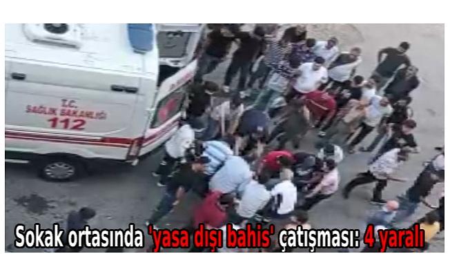 Sokak ortasında 'yasa dışı bahis' çatışması: 4 yaralı