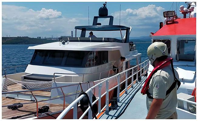 Sürüklenen, 5 kişinin olduğu tekne kurtarıldı
