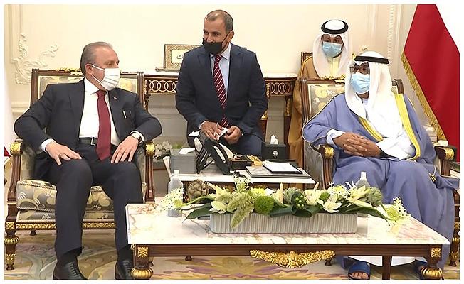 TBMM Başkanı Şentop, Kuveyt Veliaht Prensi Al Sabah ile görüştü