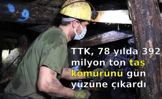 TTK, 78 yılda 392 milyon ton taş kömürünü gün yüzüne çıkardı