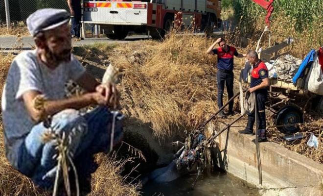 Ürküp faytonla birlikte kanala düşen at boğuldu, sahibi son anda kurtuldu