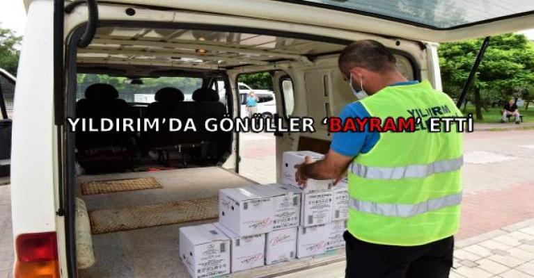 YILDIRIM'DA GÖNÜLLER 'BAYRAM' ETTİ