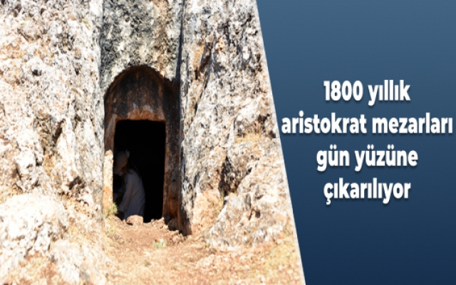 1800 yıllık aristokrat mezarları gün yüzüne çıkarılıyor