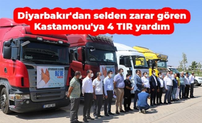 Diyarbakır'dan selden zarar gören Kastamonu'ya 4 TIR yardım