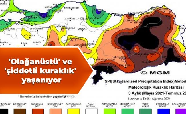 Korkutan haritalar: 'Olağanüstü' ve 'şiddetli kuraklık' yaşanıyor