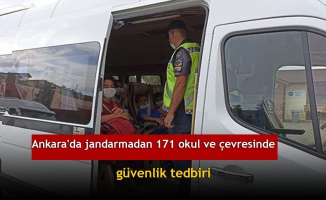 Ankara'da jandarmadan 171 okul ve çevresinde güvenlik tedbiri
